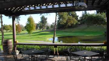 A view from a terrace at Spring Hills Golf Course